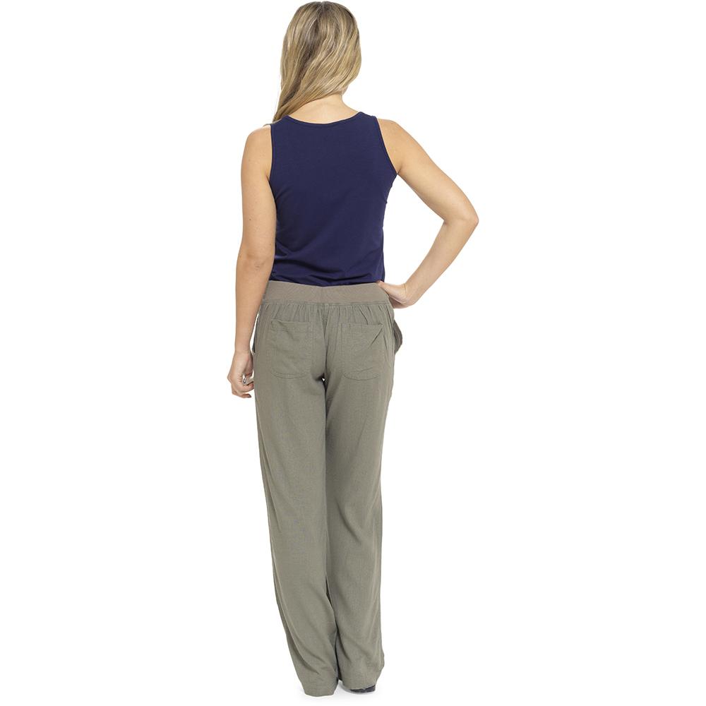 Wonderful 2019 Linen Pant Casual Womens Cotton Linen Elastic Waist Trousers Summer Wide Leg Pants For ...