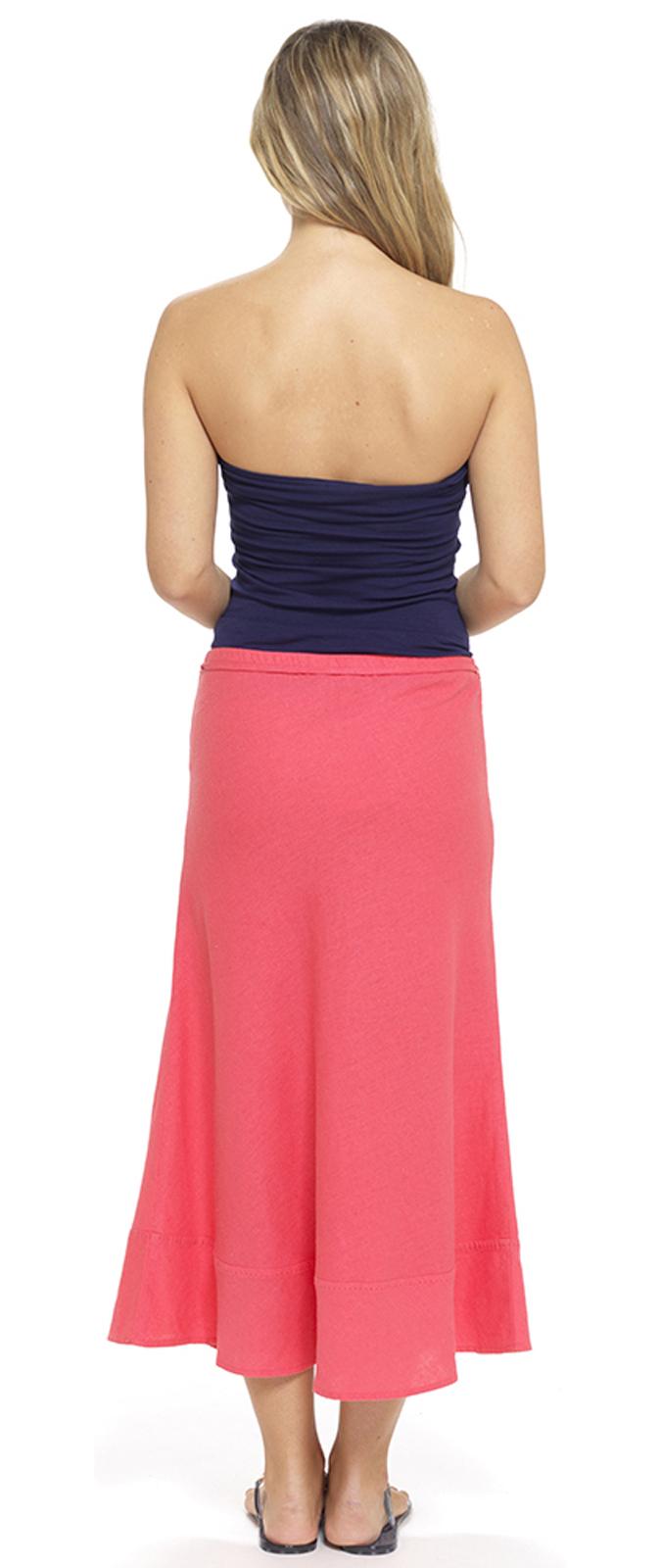 Unique Denim Long Skirt  Indigo Full Length Maxi Blue Womens Ladies SKIRT36