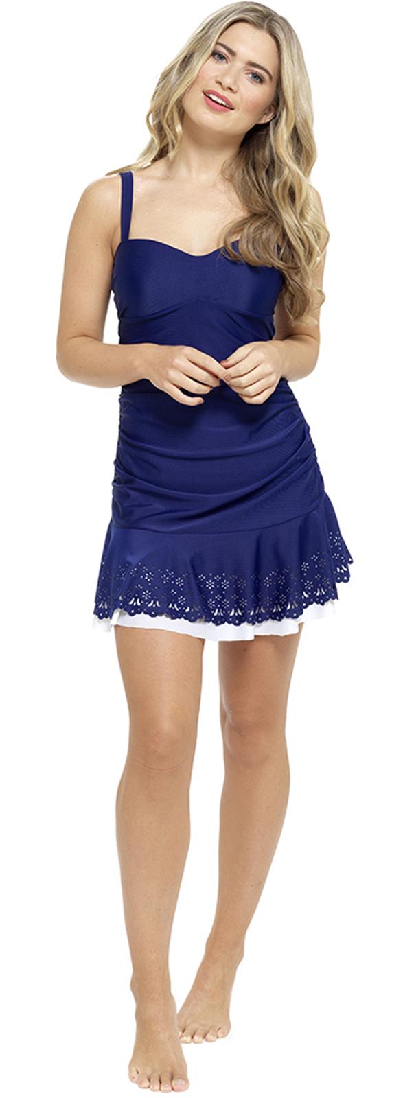 womens swimdress swimming costume with skirt tummy support