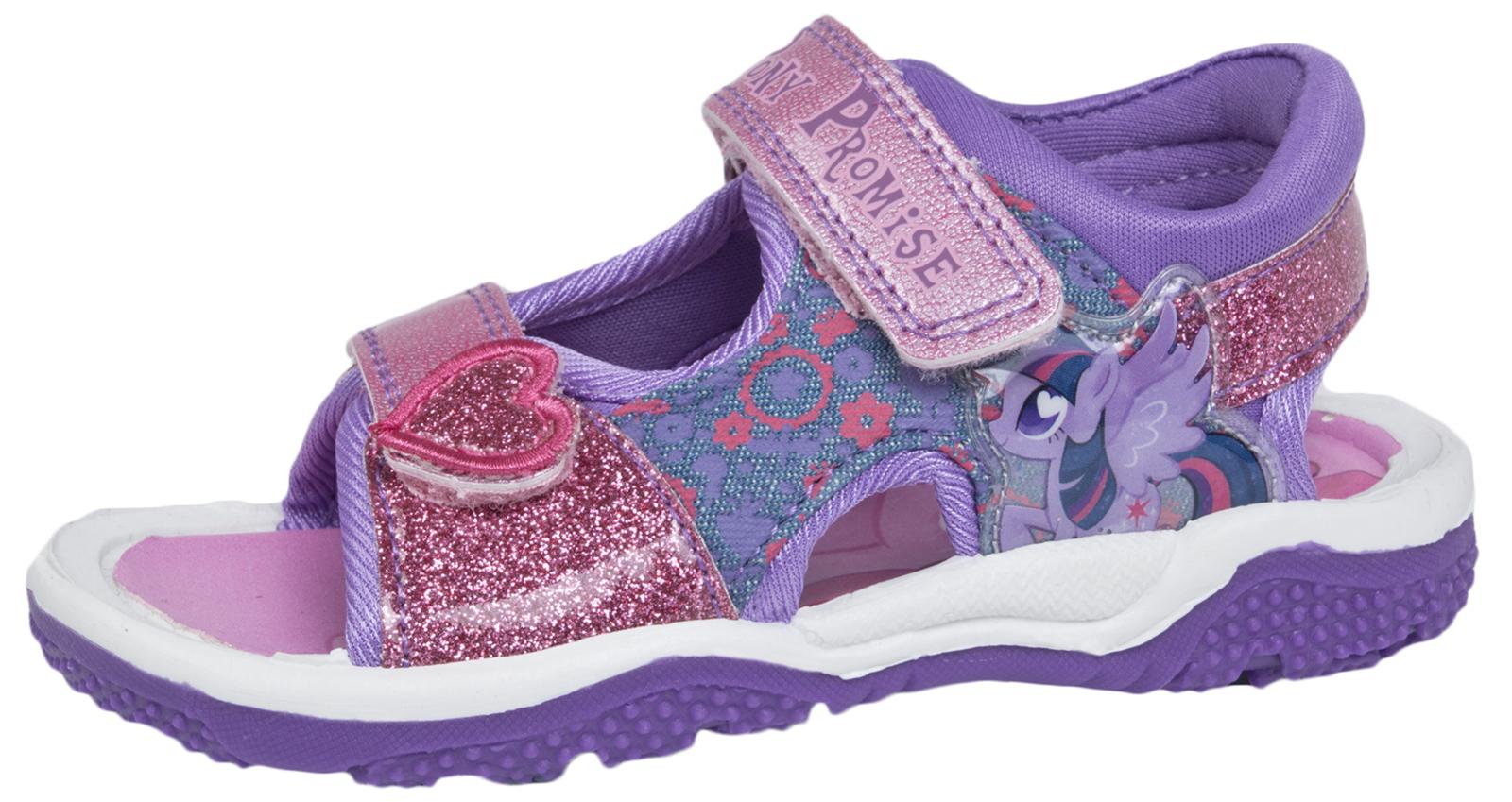 eff9c8d68dd7 My Little Pony Glitter Sandals Adjustable Sports Summer Beach Shoes Girls  Size