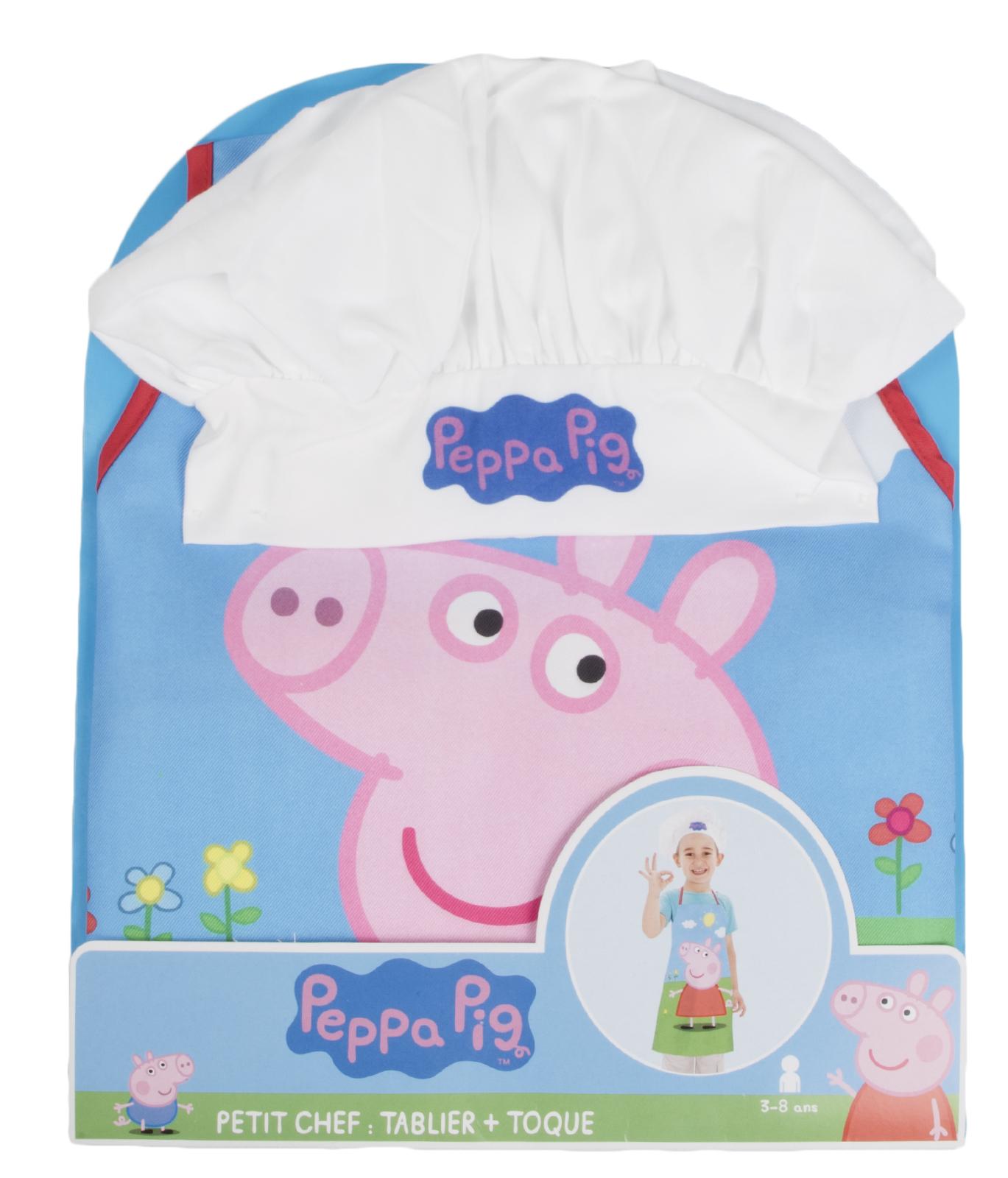 Girls Peppa Pig Apron Chefs Hat Set Childrens Kids