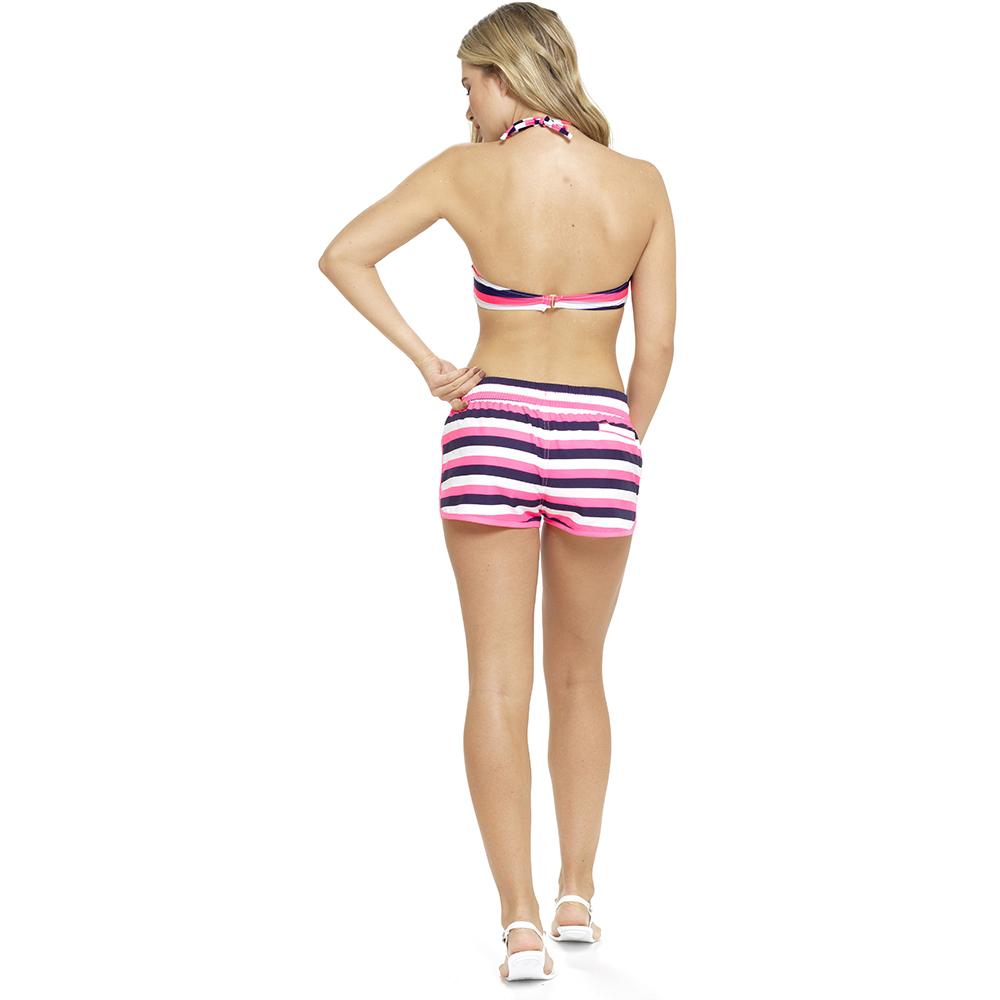 Femme taille haute plage short élastique été shorts de bain vacances taille