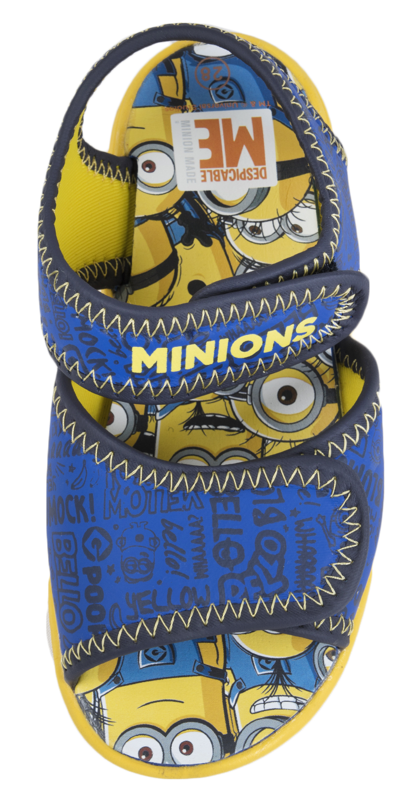 Boys Minions Summer Sandals Despicable Me Easy Touch Fastening Beach Shoes Size