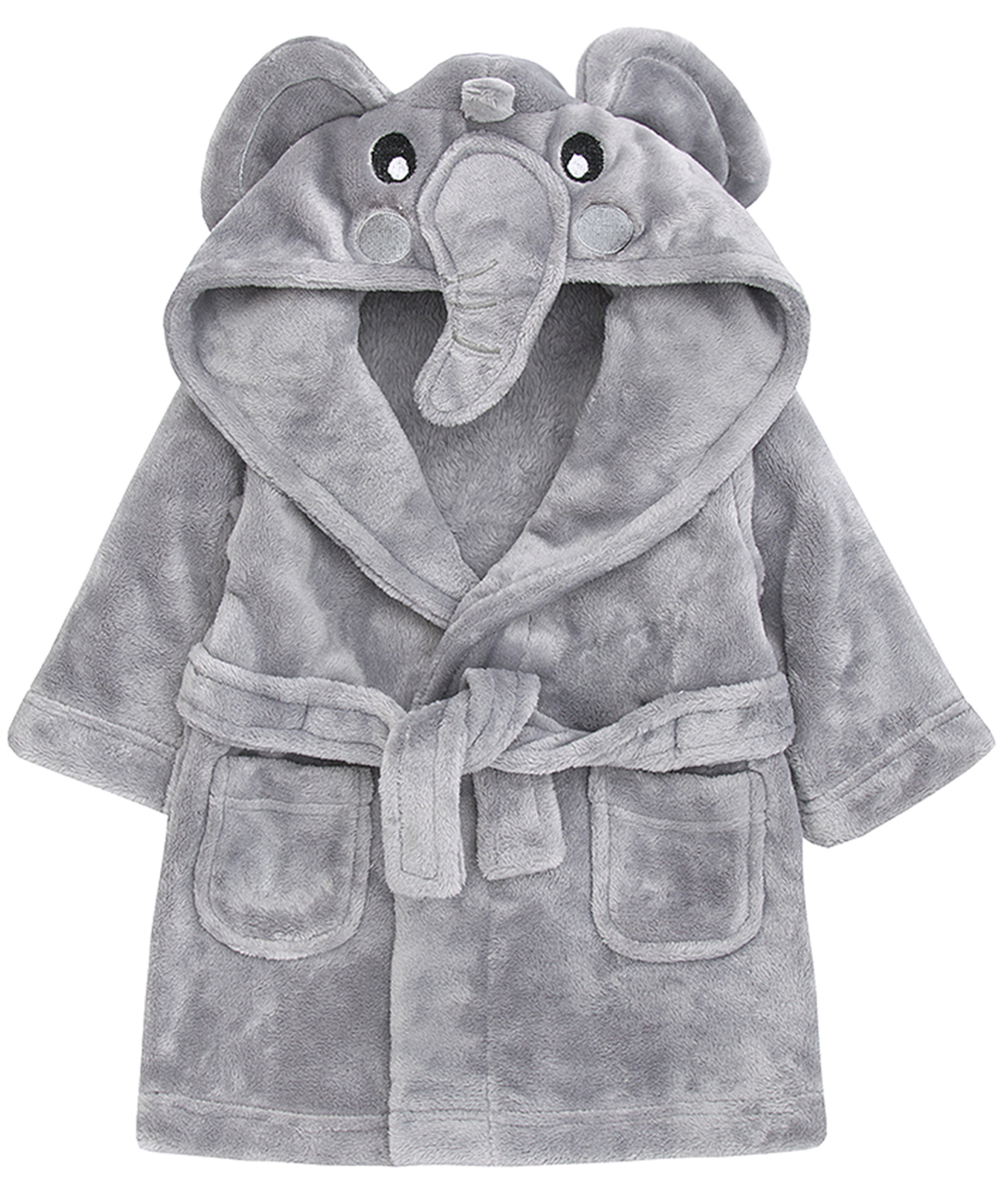 Make bath time fun with this Just Born robe and booties set. The soft fabric of this boys' robe keeps him dry and comfy, while the cute appliques are sure to make a splash.