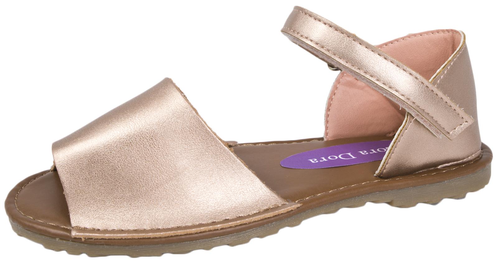 Chicas Imitación Cuero menorquina Sling Back Sandalias De Verano Playa Fiesta Zapatos Talla