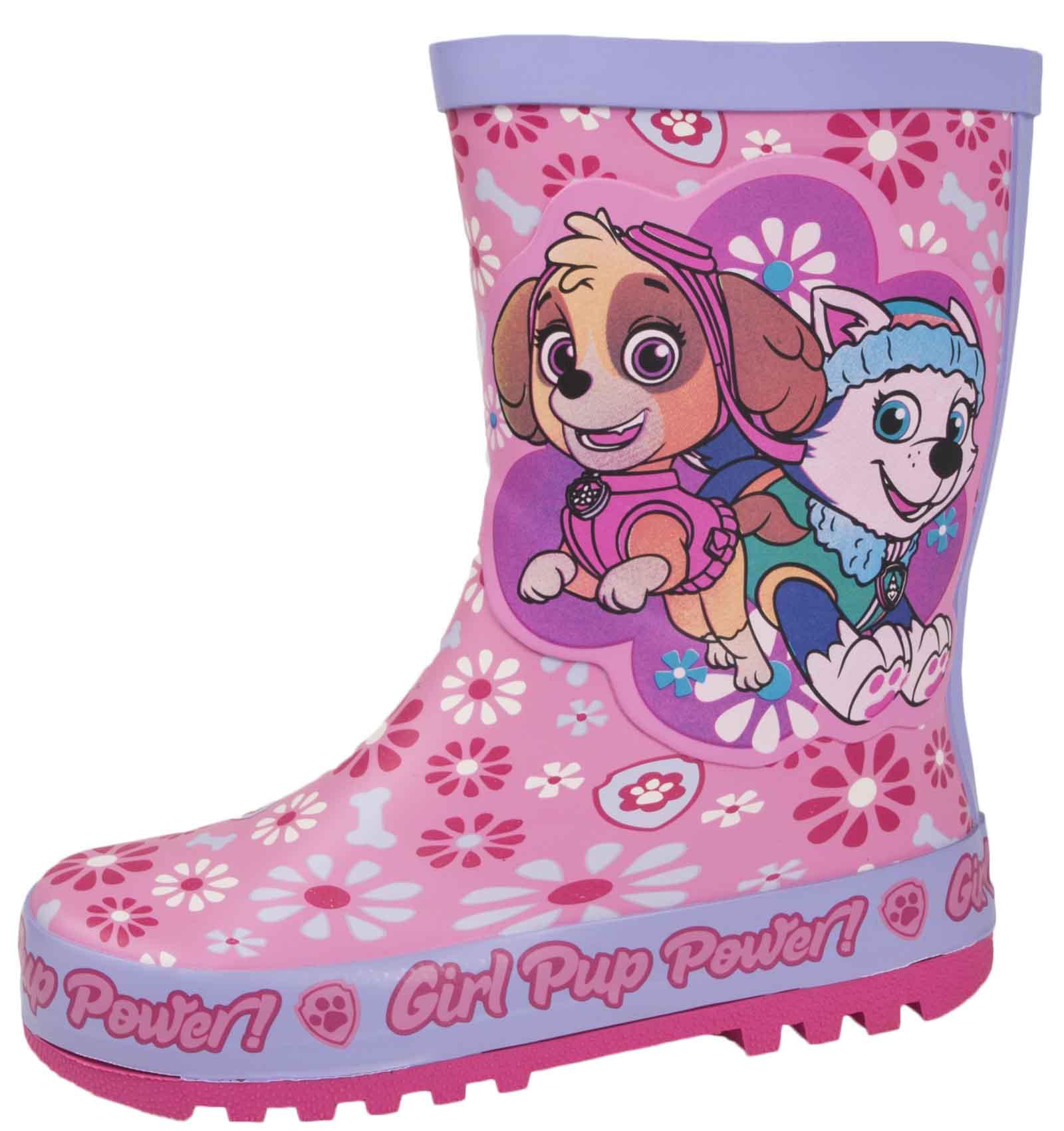 Chicas Paw Patrol Wellington Botas Rosa De Goma Para Lluvia Botas De Agua Botas De Nieve Niños Talla