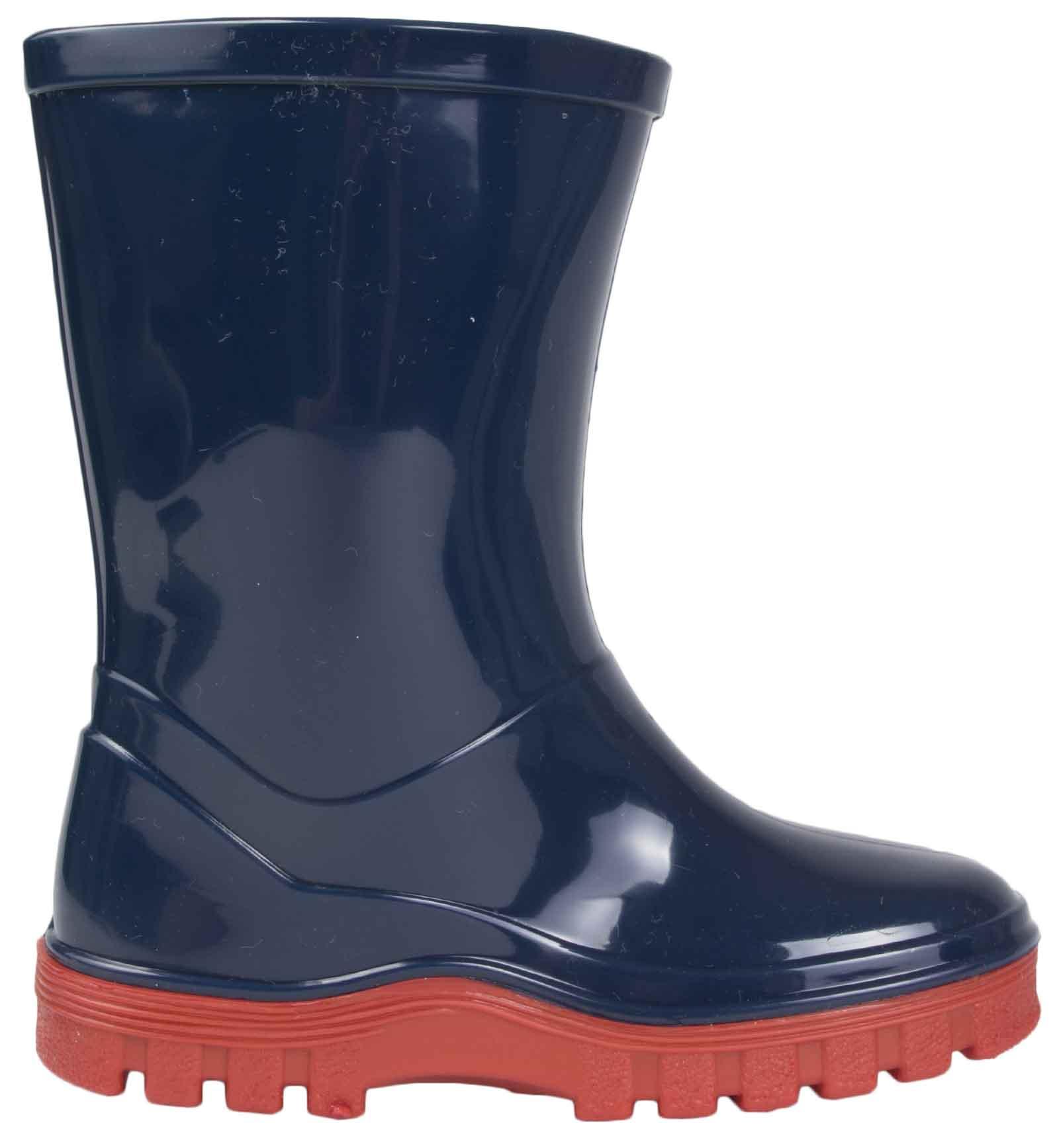 Boys Paw Patrol Wellington Boots Blue Rain Wellies Mid Calf Snow Boots Kids Size