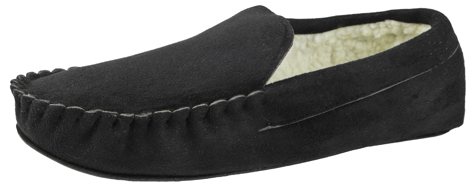 Mens Moccasins Slippers Warm Winter Faux Fur Fleece Lined Comfort Shoes Size