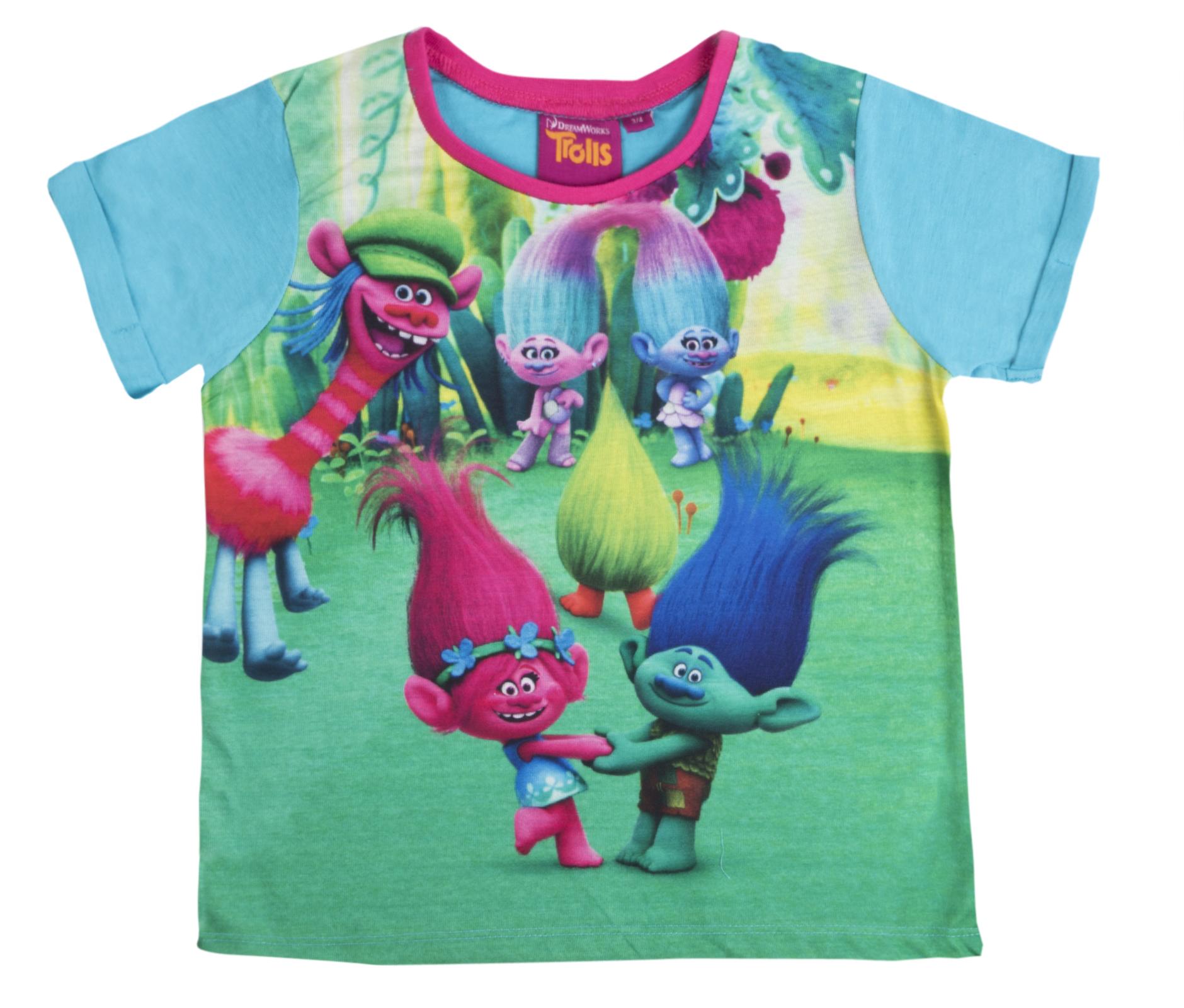 Shorts Pjs Set Kids Size Trolls Pyjamas Shortie Princess Poppy Branch T Shirt