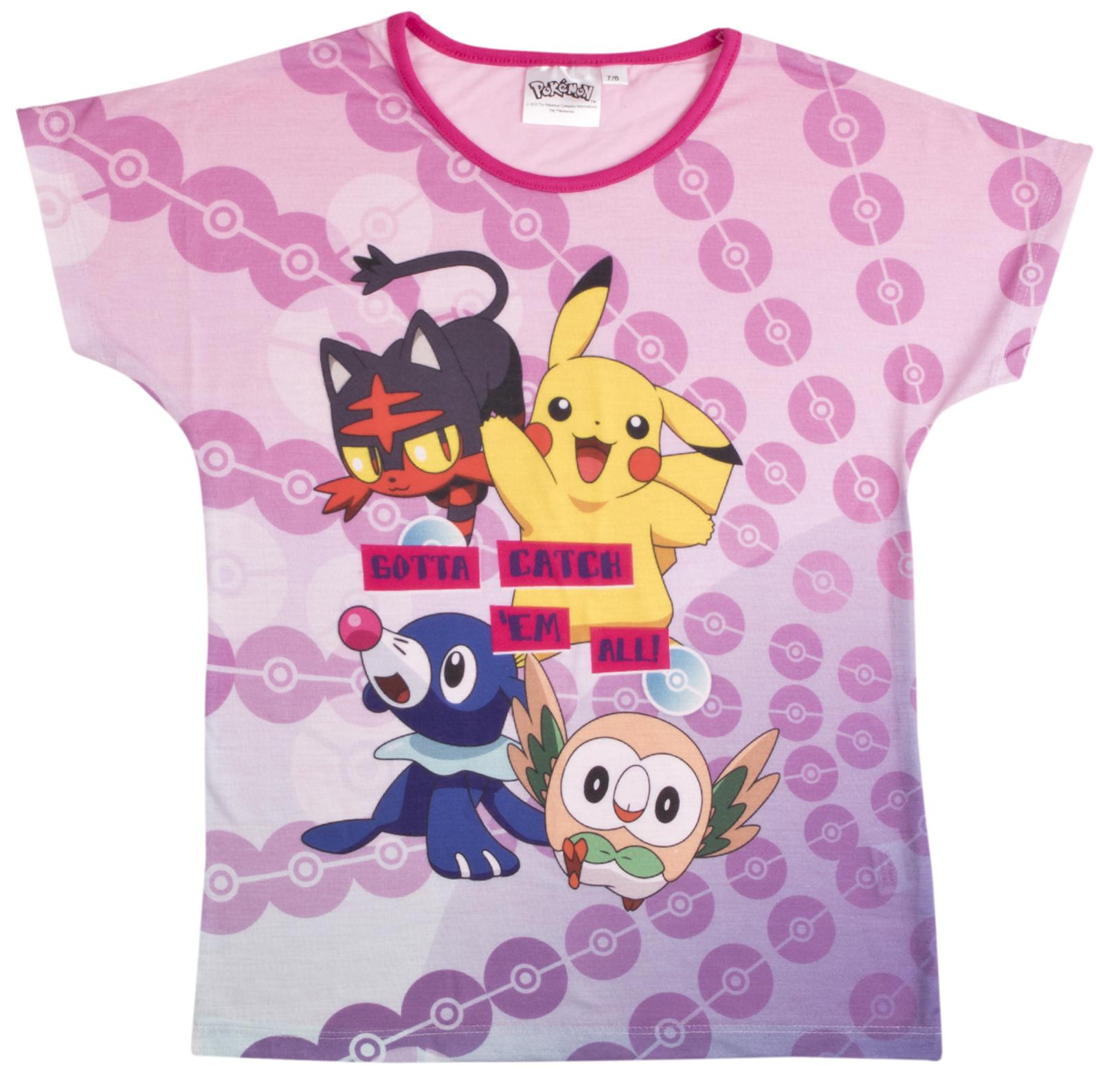 Garçons Filles Pokemon court pyjama à manches courtes Shortie Pyjama Set PIKACHU Kids Taille