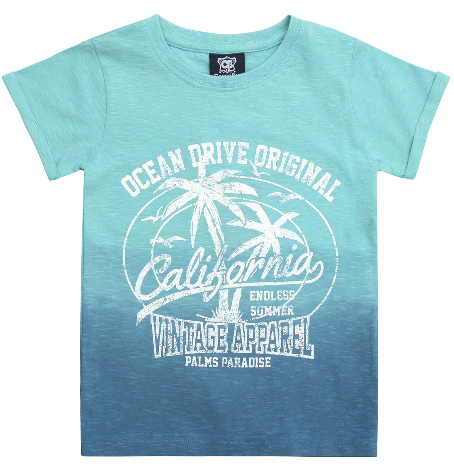 Garçons Dip Dye Summer T Shirt American Varsity Beach Party Top 100/% Coton Taille