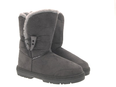 WOMENS ELLA BUTTON TOGGLE FUR LINED SNOW WINTER BOOTS ANKLE FLAT LADIES SIZE 3-8