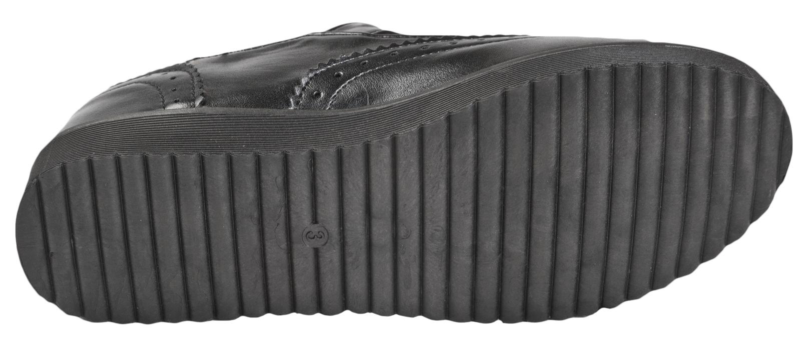 Filles Noir École Chaussures Chunky Plateformes Plates Semelle Flatforms Kids Femme Travail
