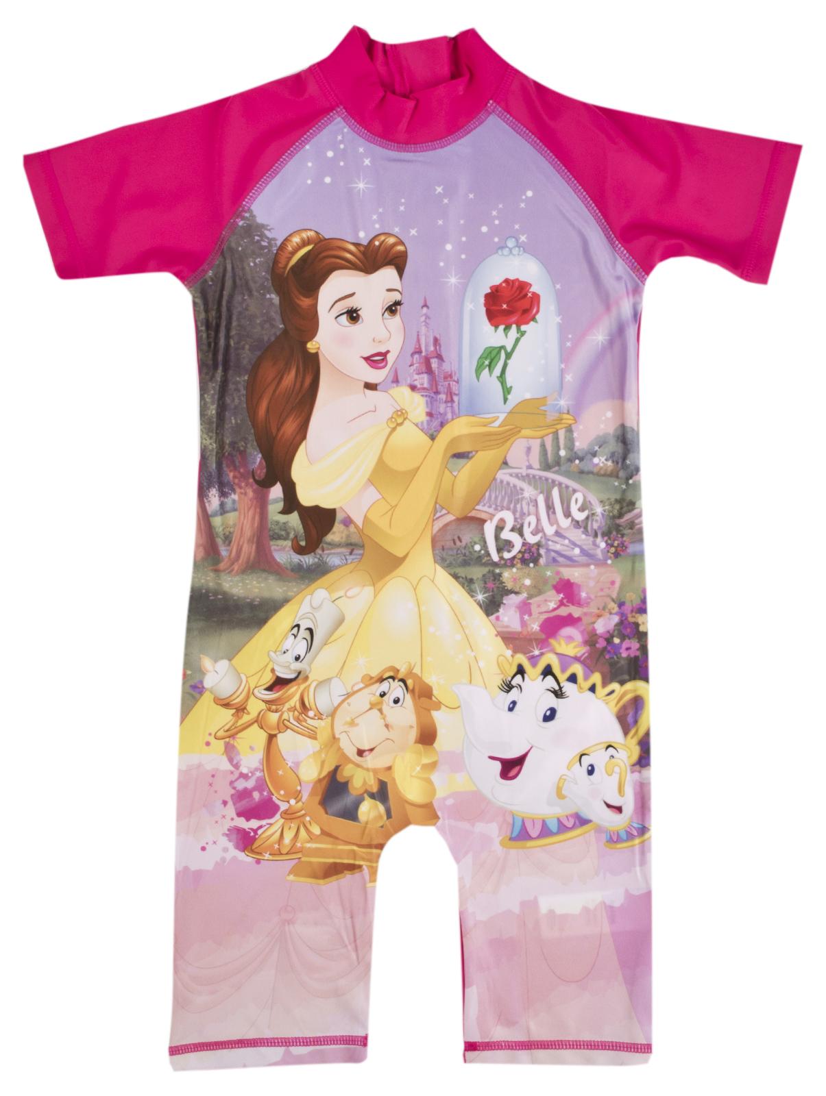 Disney Princess Belle Sun Suit Girls Beach Holiday Surf Suit Costume Kids Size