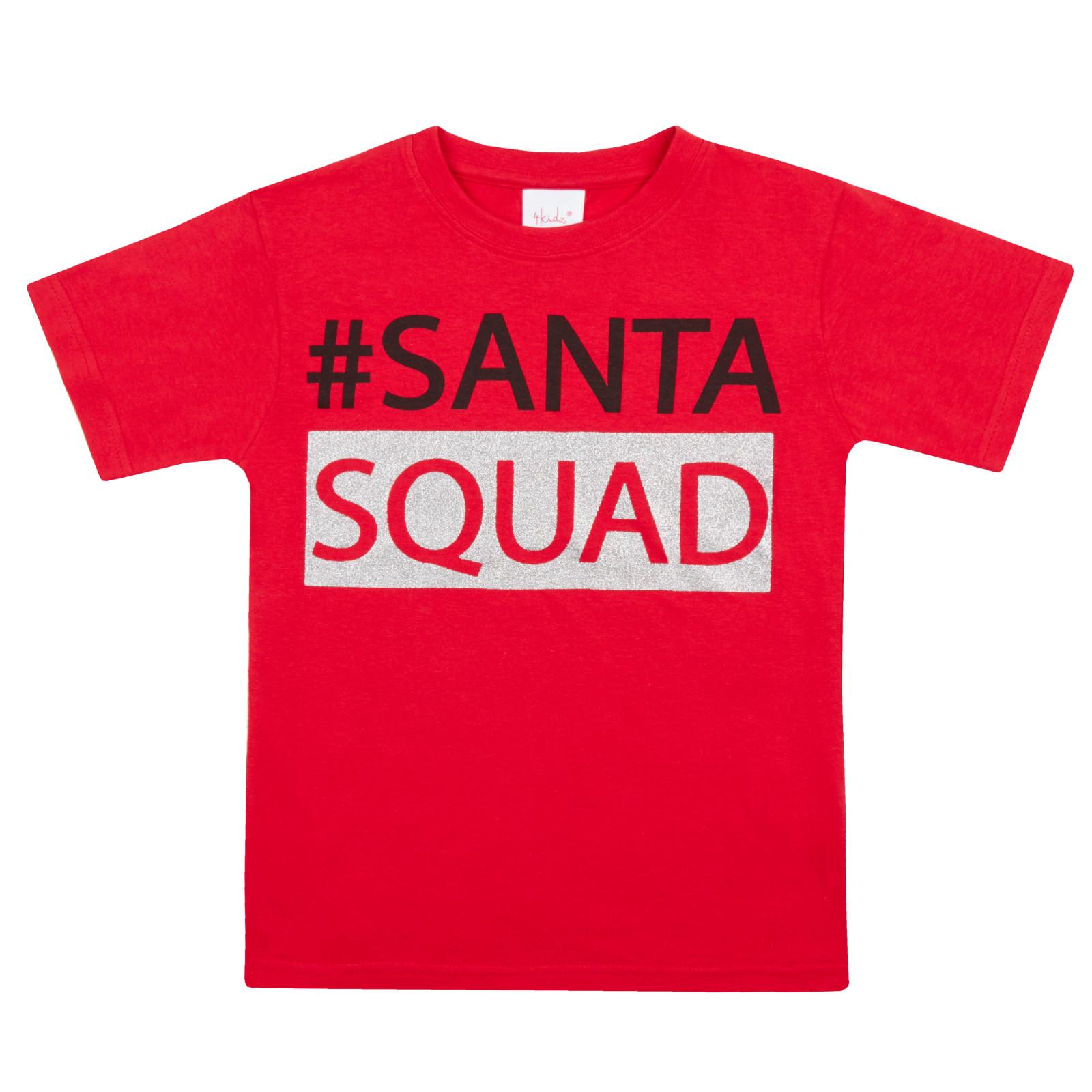 Per Bambini Natale T Shirts 100/% Cotone Ragazzi Ragazze Festive Natale Novità Top