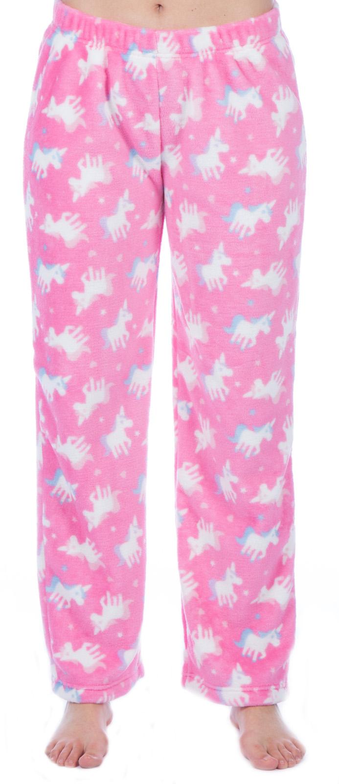 Girls Fleece Lounge Pants Kids Unicorn Llama Pyjama Bottoms Pj Pants Xmas Gift