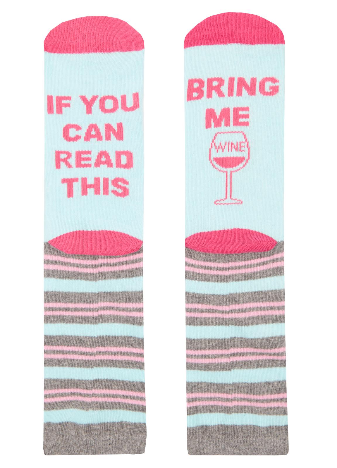 Confezione da 3 Da Donna Slogan Calzini Rosa Blu Rosa