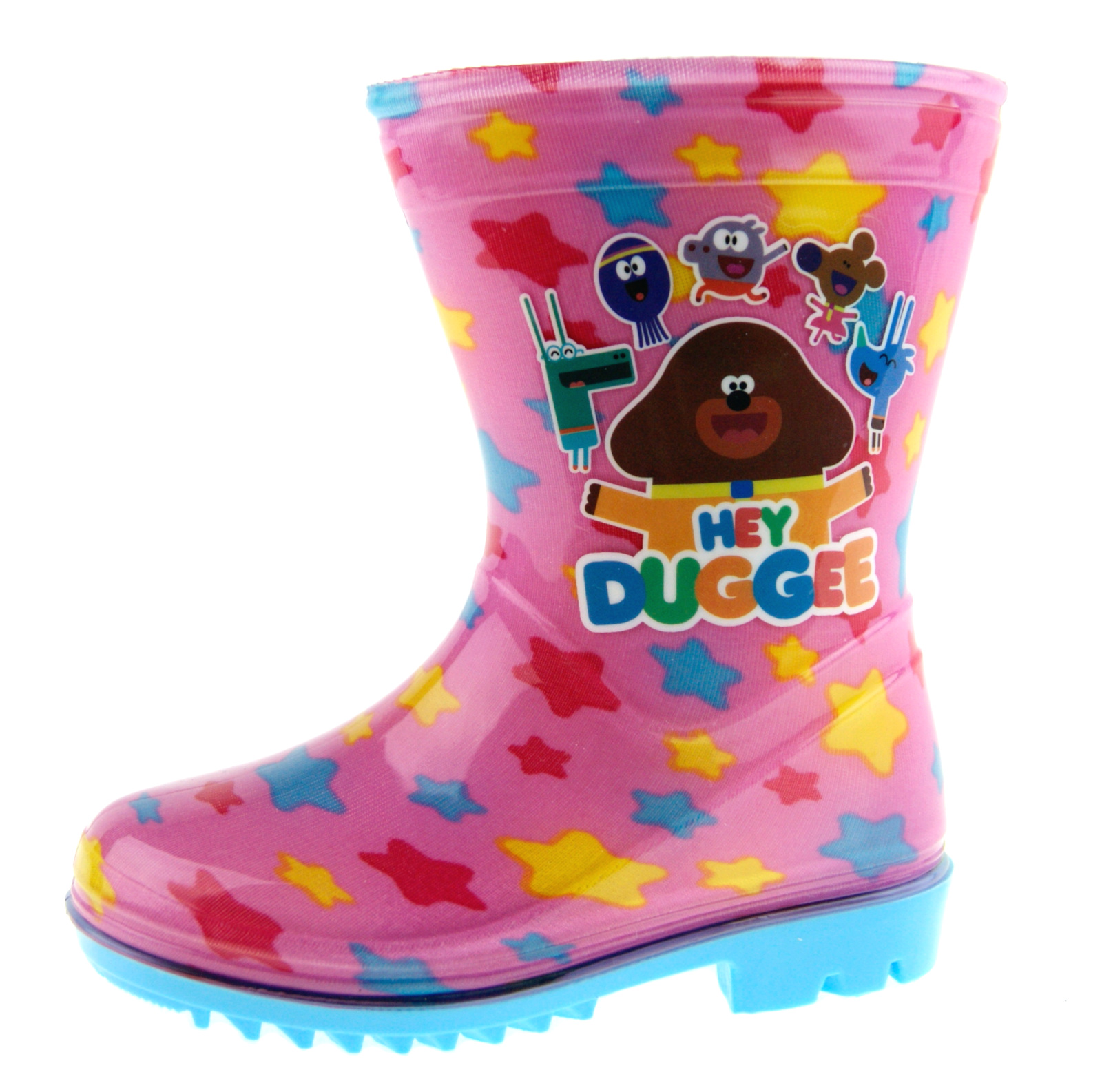 Boys Girls Hey Duggee Wellington Boots Character Snow Rain Wellies Shoes Nursery