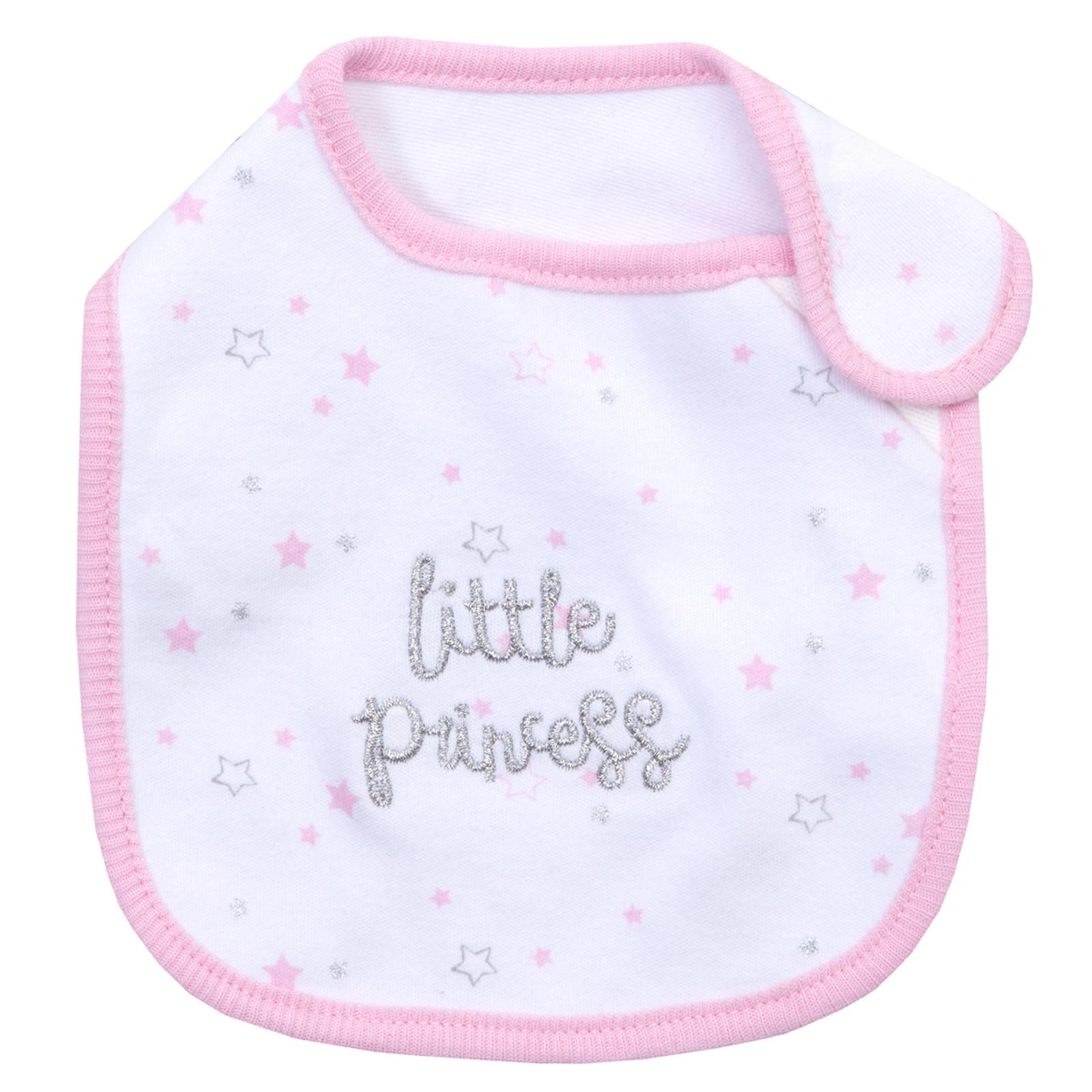 Baby Girls Little Princess Babygrow Hat Bib 3 Piece Set Outfit Newborn Gift