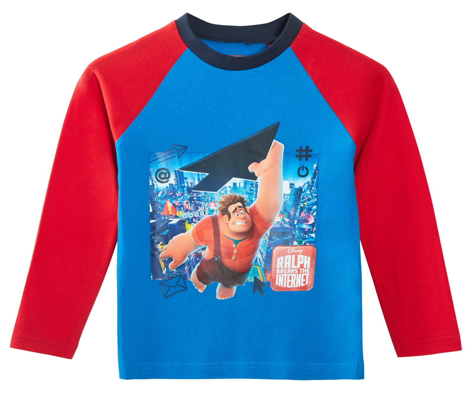 Wreck It Ralph 2 Boys Long Pyjamas Kids 2 Piece Character Pjs Set Gift Size