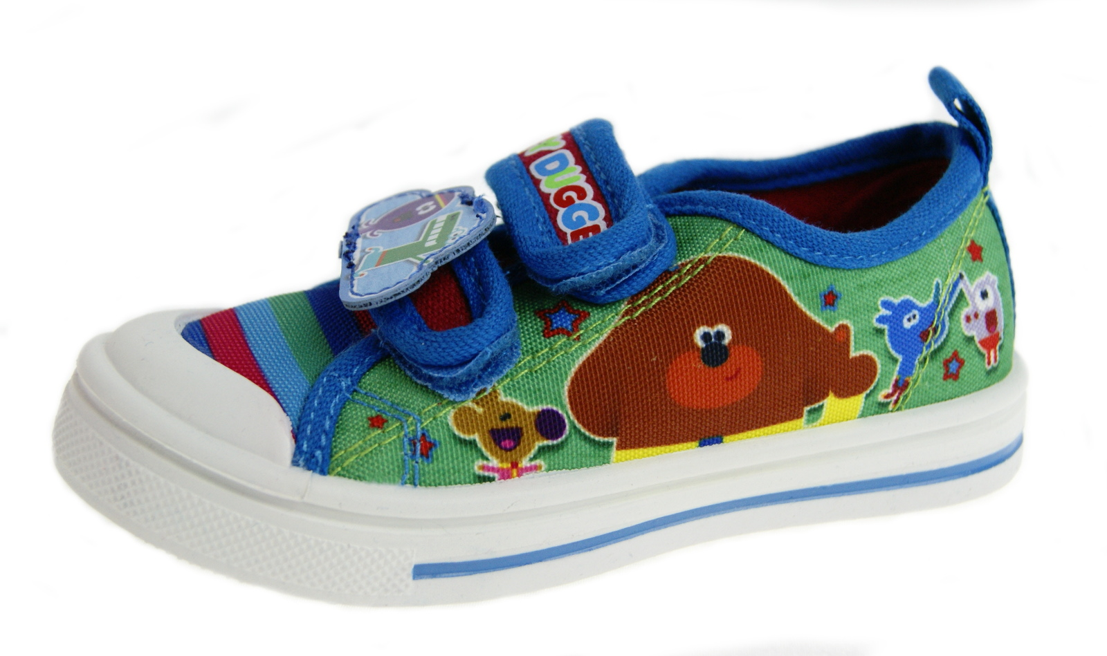 Hey Duggee Boys Canvas Pumps Kids Character Flat Summer Trainers Sneakers Size