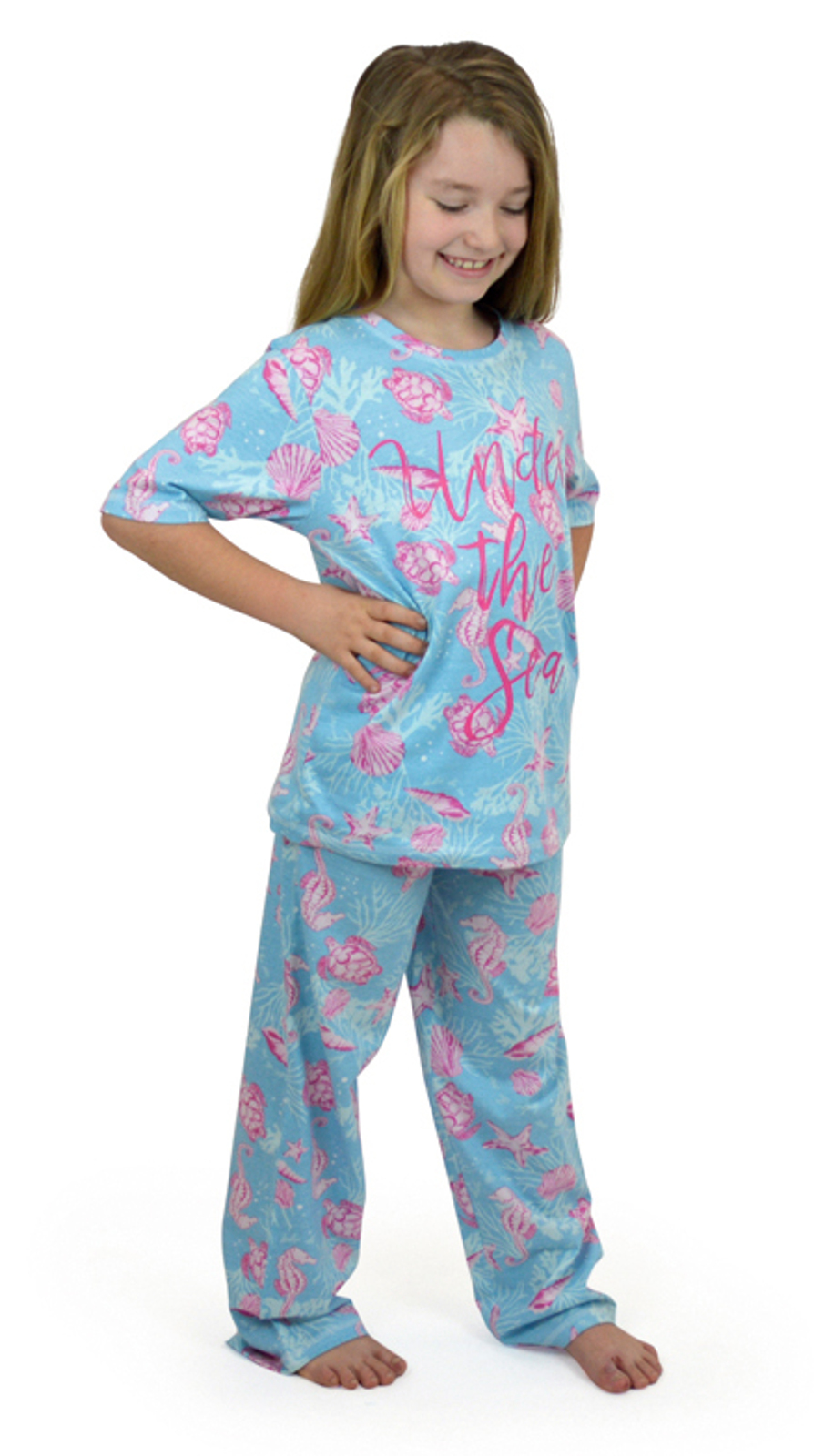 Womens Girls Mini Me Matching Pyjamas Set Mermaid Pug Unicorn Mother Daughter