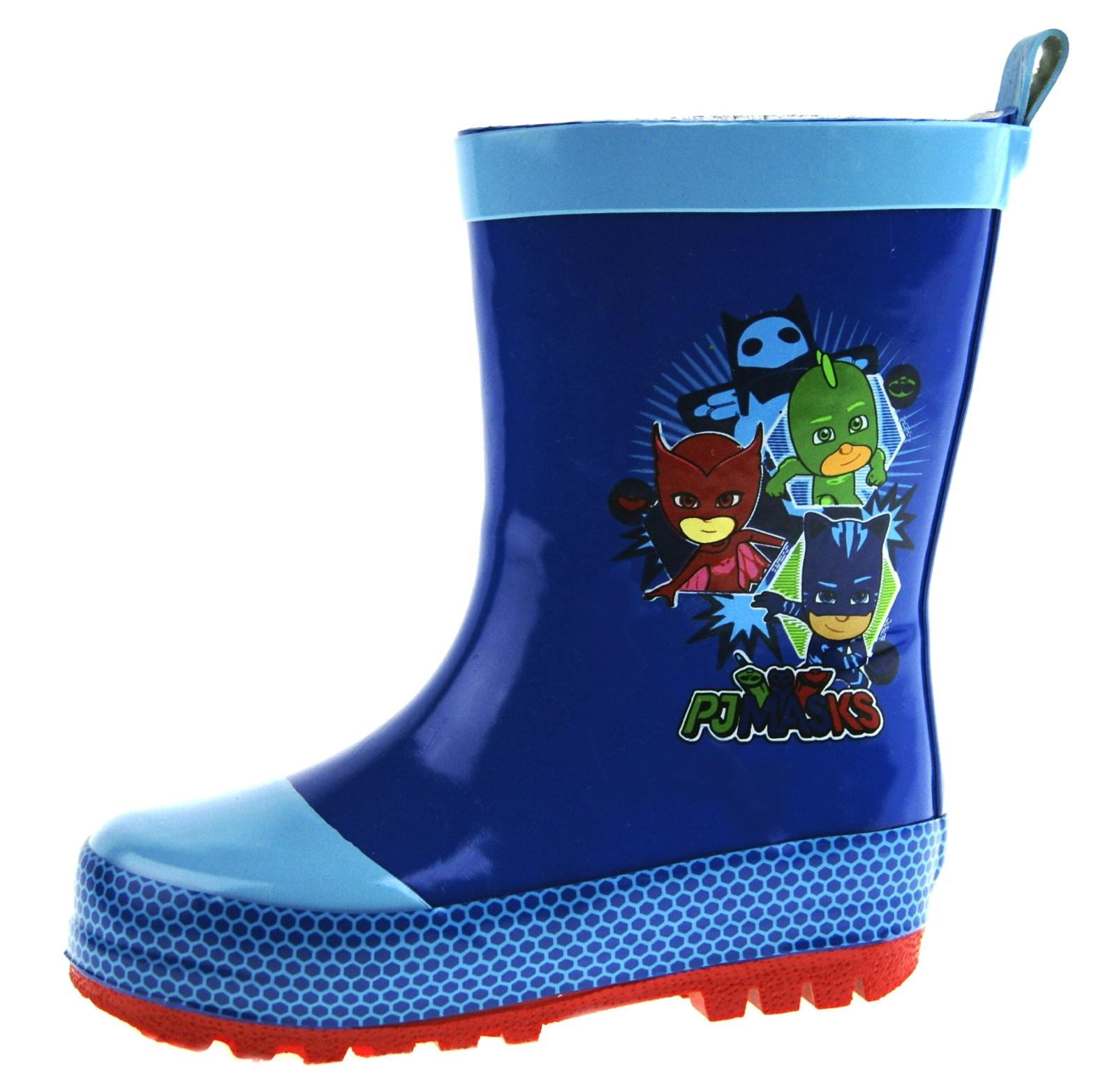 PJ Masks Wellington Boots Kids Gekko Owlette Catboy Wellies Rain Snow Boots Size