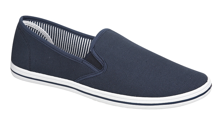 MENS PLIMSOLES SLIP ON PUMPS TRAINERS ESPADRILLES SHOES CANVAS BOYS SIZE uk 7-12