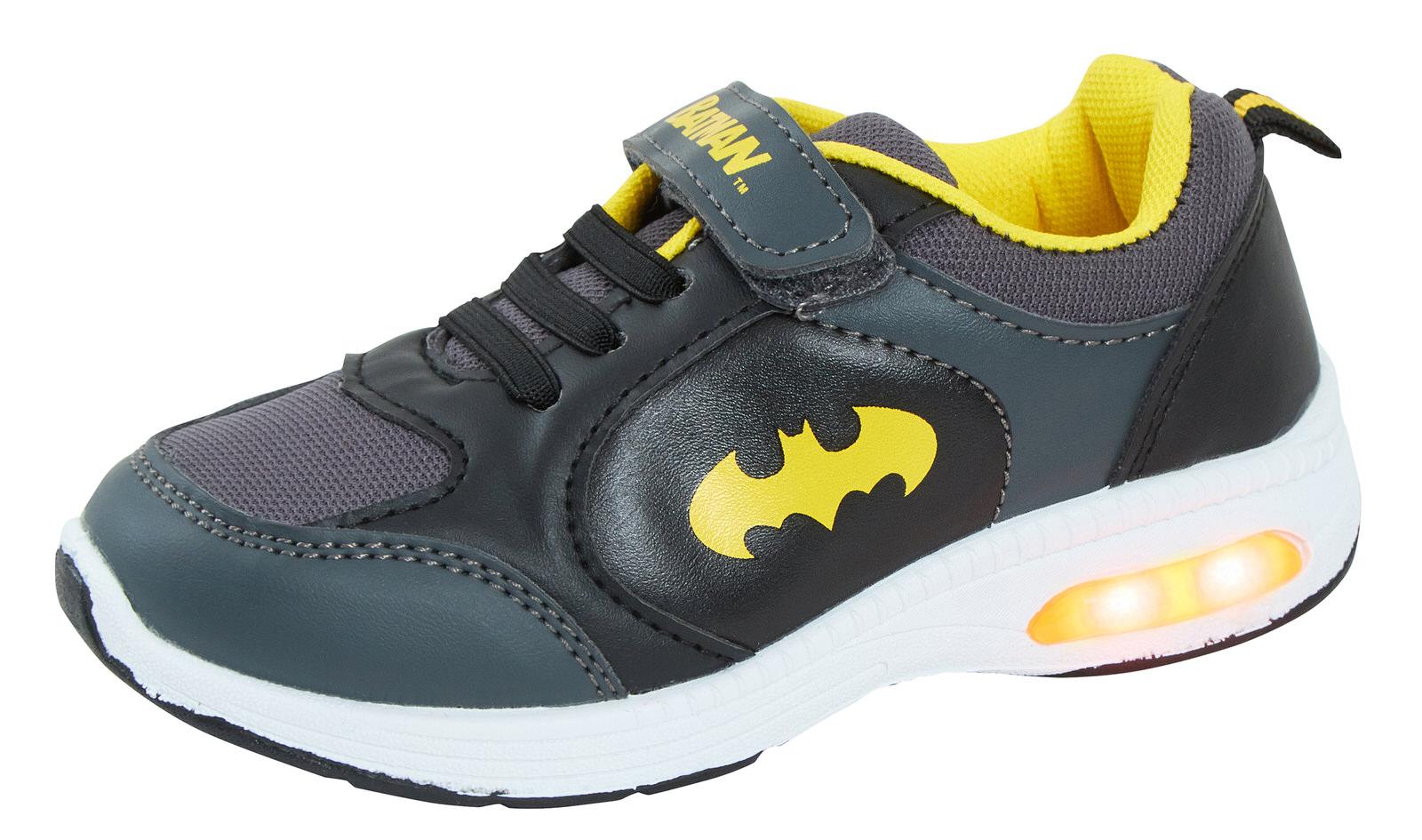 Batman Garçons Light Up Sports Baskets Enfants DC Comics Décontracté Chaussures De Skate Baskets