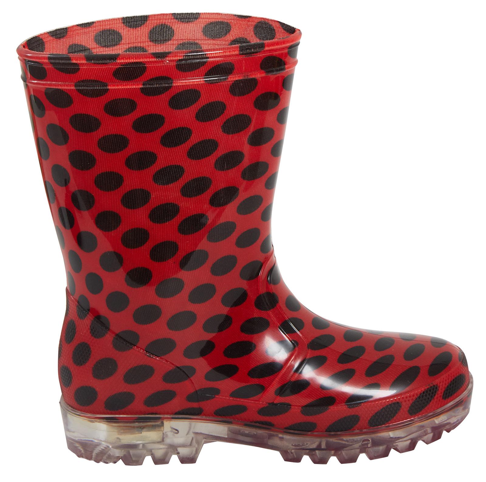 Miraculous Ladybug Girls Light Up Wellington Boots Kids Flashing Snow Wellies