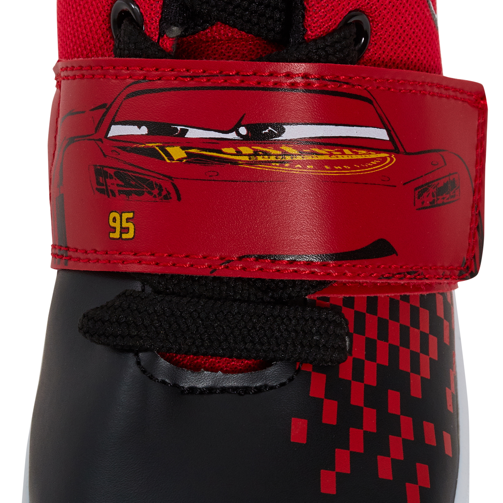 Boys Disney Cars Hi Top Trainers Kids Lighting McQueen Casual Ankle Boots Size