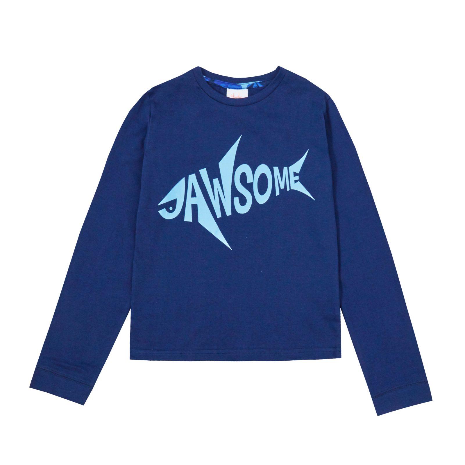 Boys Shark Pyjamas Kids Younger Older Boys Cuffed Pjs Luxury Loungewear Gift Set