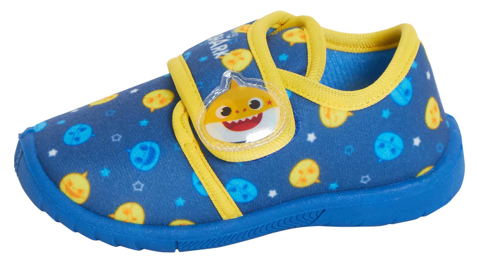 Enfants Character Pantoufles Garçons Filles facile attacher ou Enfiler Nursery Maison Chaussures