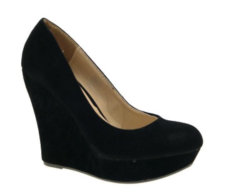 wedge platform toe court shoes faux suede 12