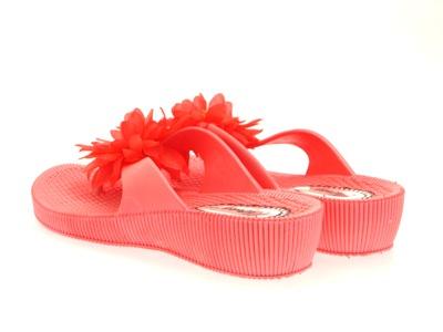 Para Mujer cuña de EVA Flip Flop Flor Toe puestos Playa Sandalias Zapatos De Mujer Talla 38
