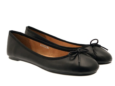 Womens Leather Ballet Pumps Girls School Shoes Ballerinas Dolly Work Shoes Size