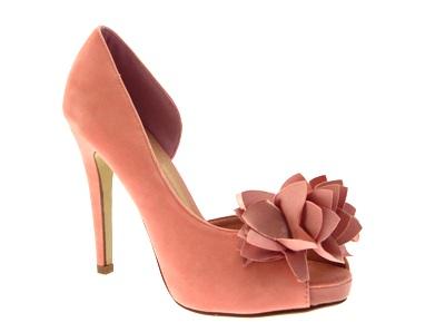 Para Mujer Flor Pastel Peeptoe De Imitación De Gamuza Plataforma Taco Stiletto Zapatos De Mujer 3 -8