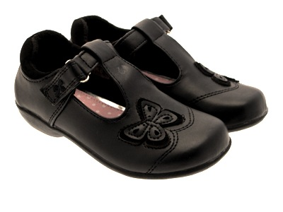 childrens black school shoes tbar faux