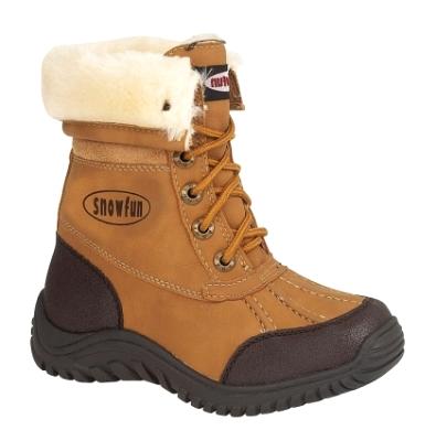 GIRLS KIDS BOYS FUR LINED WARM WINTER HIKING WATERPROOF SOLE SNOW BOOTS SZ 12- 3