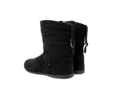 Ladies Flat Suede Ankle Boots | Fashion Boots