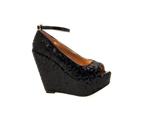 womens wedge platform peeptoe ankle