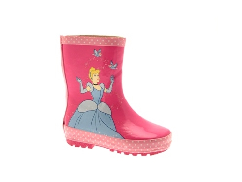 Disney Princess Tiana Cinderella Girls Kids Wellies
