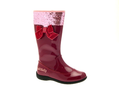 LELLI KELLY LK8064 MILLY BOOTS GIRLS LEATHER PINK PATENT GLITTER ...