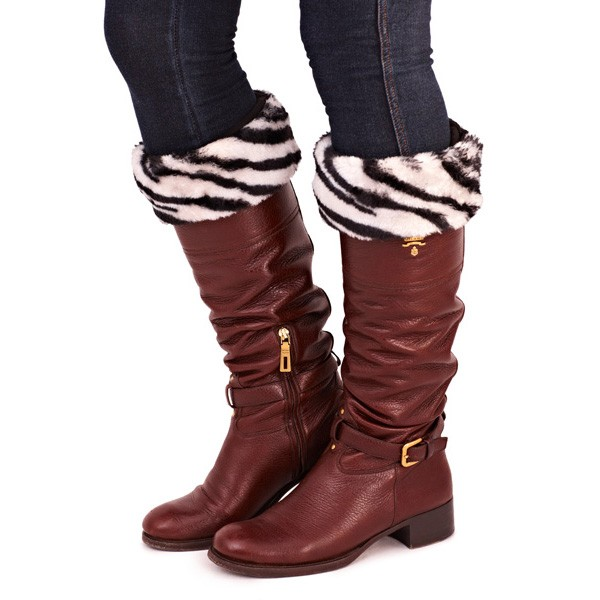 WOMENS WELLY BOOT LINERS SOCKS WINTER SNOW LADIES FUR CUFF