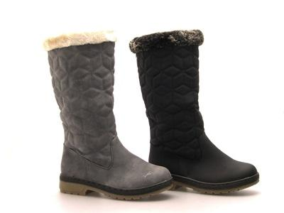 WOMENS FUR LINED QUILTED KNEE HIGH RIDING BIKER BOOTS FLAT LADIES ...