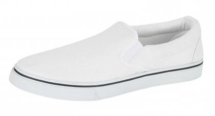 mens plain plimsolls espadrille trainers white canvas deck