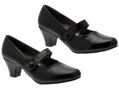 womens comfort low block heel mary jane court wide work