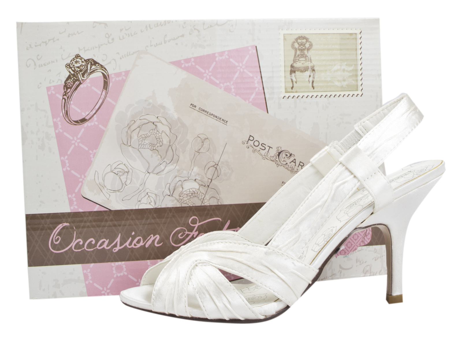 Womens Satin Bridal Wedding Shoes Stiletto High Heels Strappy Prom Sandals Size