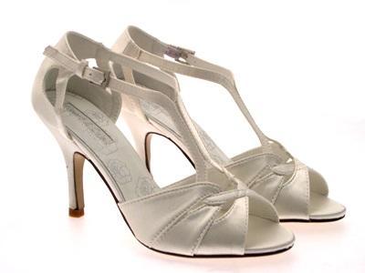 Womens T Bar Glitter Satin Stry Bridal Prom Wedding Shoes Sandals Las 3 8