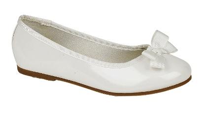 Beautiful Girls Faux Leather Patent Ballet Pumps Flat Bridal